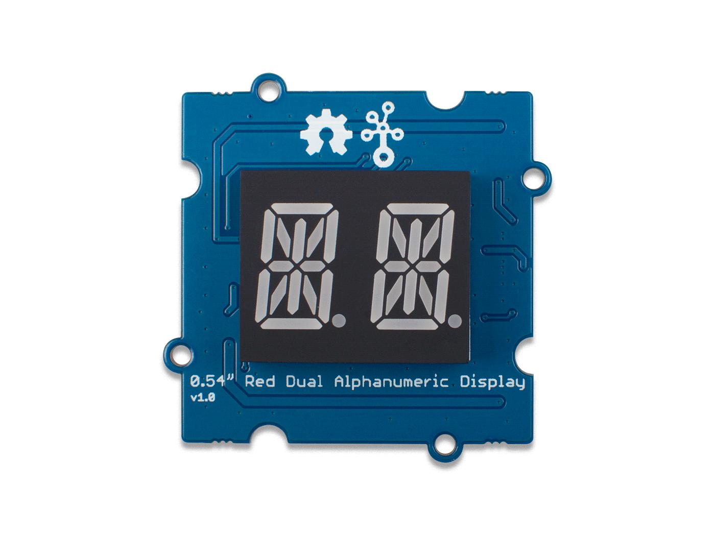 Grove Red Dual Alphanumeric Display