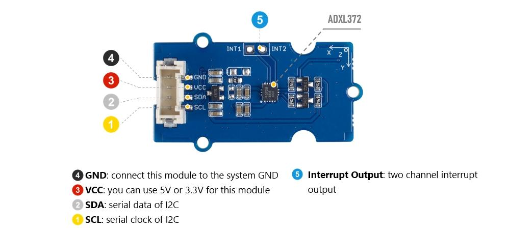 BMA400 SeeedStudio Grove 3-Axis Digital Accelerometer /¡/À16g Ultra-Low Power