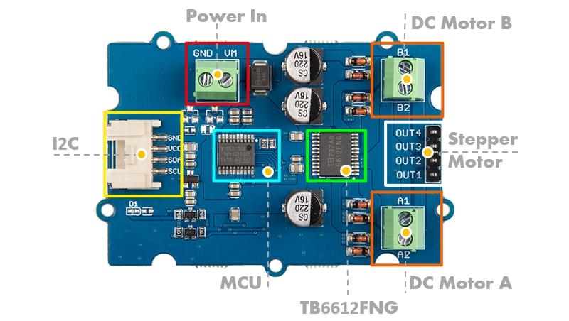 Circuito integrado controlador TB6612FNG 1A Motor TB6612 SSOP 24